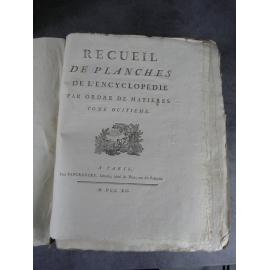 Diderot Panckoucke Encyclopédie tome VIII 234 planches Amusements magie blanche tours de gibecière etc