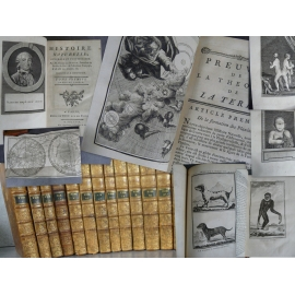 BUFFON (Georges-Louis Leclerc de). Histoire naturelle À Paris, Hôtel de Thou, 1775-1779. complet en 15 volumes