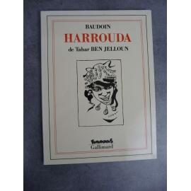 Tahar Ben Jelloun Baudoin Harrouda Futuropolis Gallimard 1er tirage septembre 1991