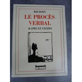 Le Clezio J.M.G. Baudoin Le proçès-verbal Futuropolis Gallimard 1er tirage septembre 1989