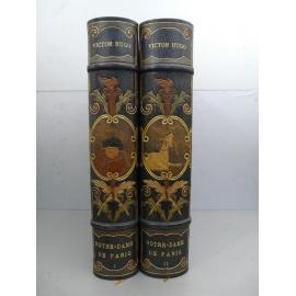 Hugo Victor, Meunier Charles,Notre Dame de Paris Edition Nationale sur Japon Maroquin mosaïqué