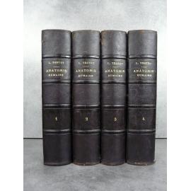 Testut Traité d'anatomie humaine Paris 5eme édition 1904-1905 nombreuses figures anatomiques