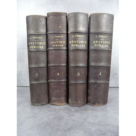 Testut Traité d'anatomie humaine Paris 1905-1912 nombreuses figures anatomiques