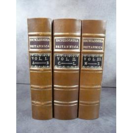 Encyclopaedia britannica fin fac-similé de l'édition de 1771, nombreuses planches.