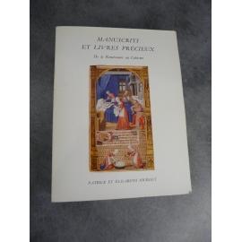 Bibliophilie bibliographie catalogue Sourget N°5 Manuscrits livres précieux renaissance au cubisme