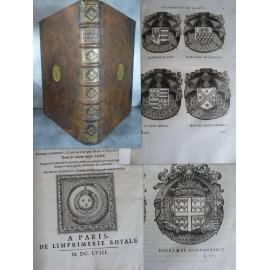 GODEFROY (Denis) et Jean LE FERON Histoire des connestables 1658 heraldique blasons in folio reliure aux arme