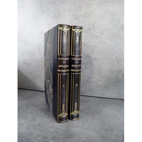 Paul Bourget Quelques témoignages plon 1928-1933 Editions originales sur alfa reliure.
