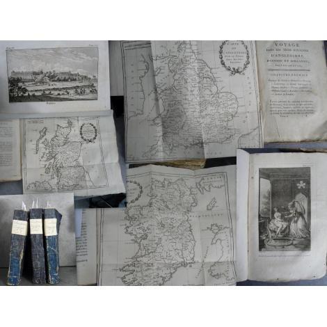 Chantreau Voyage trois royaumes Angleterre Ecosse Irlande Cartes et gravures