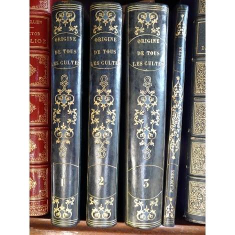 Dupuis Origine de tous les cultes ou religion universelle Edition originale 1795 + Atlas Franc maçon