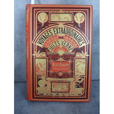 Hetzel Jules Verne michel strogoff de moscou à irkoutsk cartonnage aux deux éléphants Voyages extraordinaire
