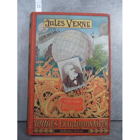Hetzel Jules Verne mistress branican cartonnage portrait imprimé dos au phare Voyages extraordinaires