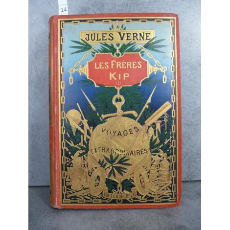 Hetzel Jules Verne les frères kipp cartonnage globe doré dos au centre Voyages extraordinaires