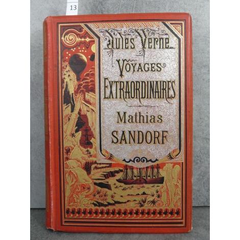 Hetzel Jules Verne voyages exraordinaires mathias sandorf cartonnage bannière argent Voyages extraordinaires