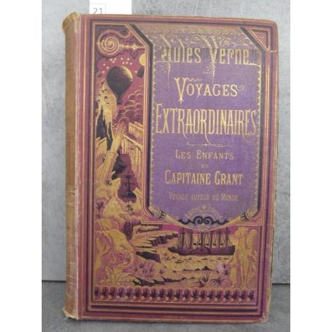 Hetzel Jules Verne Les enfants du capitaine Grant Bannière violette. Voyages extraordinaires