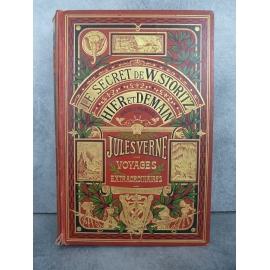 Hetzel Jules Verne le secret de W.Storitz Hier et demain cartonnage à un éléphant dos au phare Voyages extraordinaires