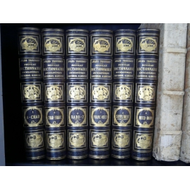 Trousset dictionnaire et atlas Superbes reliures de Engel très belle condition.