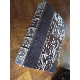 Lacroix, XVIIIe Lettres sciences et arts, Maroquin à coins signé Guetant