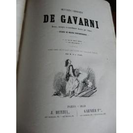 Gavarni Oeuvres choisies Hetzel 1848 LA vie de jeune homme, Les debardeurs