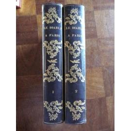 Gavarni, Le diable à Paris 1ère édition 1845-1846 reliure romantique