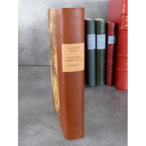 Henrik Ibsen Oeuvres tome 1 N° 61 sur vergé filigrané littérature norvégienne Grimstad