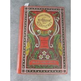 Hetzel Jules Verne Le château des Carpathes Aux feuilles d'Acanthes Médaillon doré Les mondes connus et inconnus