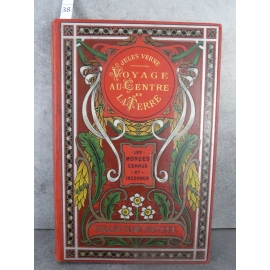 Hetzel Jules Verne Voyages au centre de la terre Aux feuilles d'Acanthes Pastille rouge Les mondes connus et inconnus