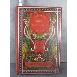 Hetzel Jules Verne Le docteur Ox Aux feuilles d'Acanthes Pastille rouge Les mondes connus et inconnu