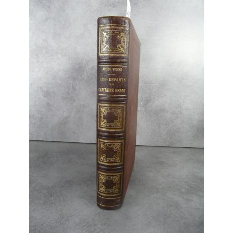 Hetzel Jules Verne Les enfants du capitaine Grant Reliure aux harpons Voyages extraordinaires