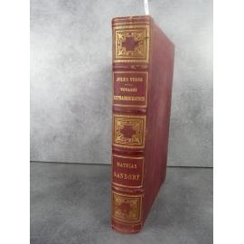 Hetzel Jules Verne Mathias Sandorf 1885 Catalogue CR Reliure aux harpons Voyages extraordinaires