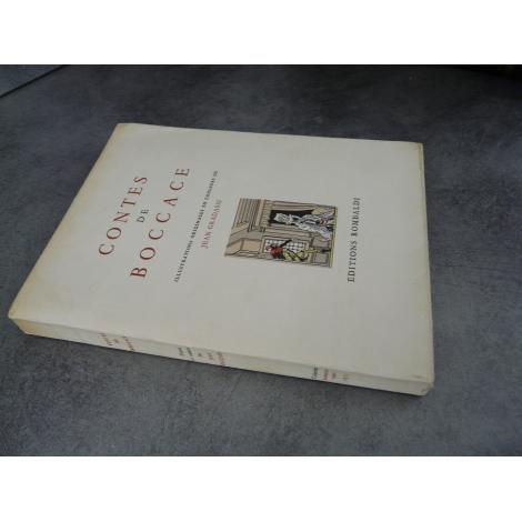 Boccace Contes de Jean Gradassi illustrations couleurs bel exemplaire non coupé, numéroté
